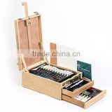 High quality 94 pcs personalised acrylic watercolor pencil and oil pastel wooden drawing art park coloring sets