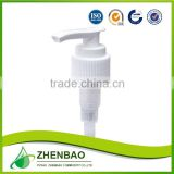 Factory directly wholesale right left locked plastic lotion pump for liquid soap 28/400 from Zhenbao factory