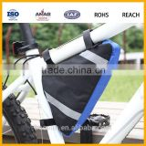 600D Polyester bicycle triangle frame bag, new bag frame bike cycling front tube storage pouch