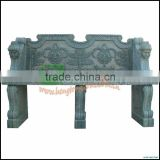 Green Marble Outdoor Bench,Long Bench with flower carvings