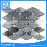 Long octagon italy grey wall marble mosaic tile with low price