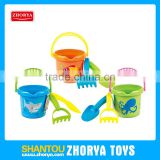 Zhorya children 3pcs pack cute outdoor summer play set beach bucket with tools
