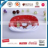 11 inch 100% melamine plate with custom decal,christmas melamine dish plate bulk buy from China