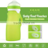 Refillable squeeze bpa free silicone baby food tubes with nozzle