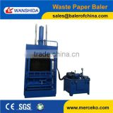 4 chambers, front & back door baler machine for waste paper PET bottom and plastic film