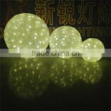 Holiday Christmas hanging waterproof durable high quality led acrylic ball decoration light for street
