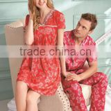 Exclusive spike summer pajamas for male and female couple