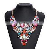 Luxury crystal gems women collar necklace jewelry