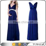 wholesale long evening party wear gown blue chiffon maternity dresses