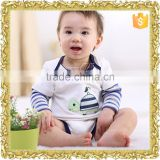 Wholesale 100% combed cotton infant clothing newborn baby clothing, long sleeves baby romper
