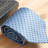 Adjustable Blue Mens Silk Necktie Digital Printing Weave