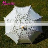 25inches Antique Battenburg Lace Parasol