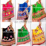 Kutch Hand Embroidered Dupatta- Kutch Embroidery Banjara Dupatta- Cotton kutch dupatta with beautiful thread work