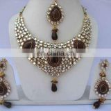 INDIAN BOLLYWOOD MEENA KUNDAN JEWELRY SET