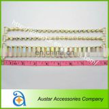 Wholesale single row gold crystal ab rhinestone bikini connector,chains swimwear connectors