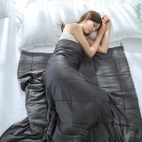 Cotton Weighted Blanket for Adult Decompression Gravity Blankets Sleep Aid Pressure Weighted Quilt