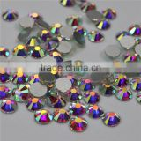 Top Quality very bright Nail Art rhinestones crystal AB clour silver flatback non hot fix rhinestone for DIY Nails decoration