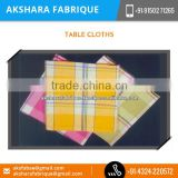 Dyed Yarn Table Cloth, Printed Table Cloth, Checked Table Cloth Supplier from India