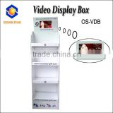 Video Display with Paper Card for Advertising