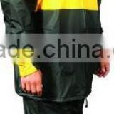 heavy duty PVC waterproof Flame Resistant Rain coat with detachable hood and generous fit Mens uniform workwear