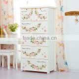 New Style Flower Baby Clothes Storage Drawer Plastic