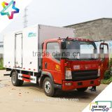 4.3m reefer truck body 6.5T Sino-Truck Howo143Hp Chassis refrigerated trucks light duty small refrigerator box truck