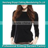 Black Bulk Blank T-shirt / Fashion T-shirt for Women with High Quality