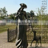 2016 New Large Outdoor Bronze Lady Sculpture Modern Figure Vivid Sculpture