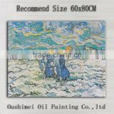 Professional Artist Handmade High Quality Impression Work Van Gogh Two Peasant Women Digging In A Snow Oil Painting For Home Art