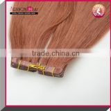 cheap Brazilian virgin hair wholesale Tape-in pu skin weft seamless hair extension