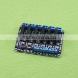 6 way solid state relay module 5V high level trigger solid state relay with fuse epansion board
