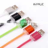IMPRUE SYNC&Fast Charging Data Synchronize Round USB Cable For iPhone/iPad /Samsung V8/Andriod Soft PTE Phone Cables 2.1A