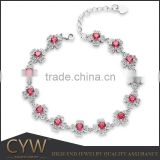 CYW wholesale Fashion gemstone silver smart bracelet for women gemstone bracelet of guangzhou