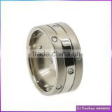 Stainless Steel Prong Setting Titanium Wedding jewelry Rings With Stones