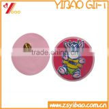 Custom soft pvc rubber lapel pins, pvc badge pin with butterfly cluth back