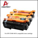 Colored cartridge CE400A CE401A CE402A CE403A compatible toner cartridges for HP M551dn/M551n/M551xh/500
