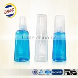 Clear cosmetic glass spray bottle with spray pump