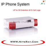 Best selling voip PBX support 30 IP Phone Registers with ip pbx telephone system