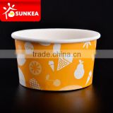 Custom printed Icecream cup with lid