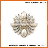 China new design popular cheap brooches and pins, brooches and hijab pins,wholesale rhinestone brooch