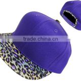 Leopard print brim design your own snapback hat online, Snapback Hats