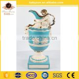 Babyzon Luxury Trophy, Home Decorative Items Ceramic Trophy Cup, Royal Blue Series Trophy