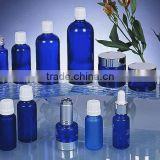 plastic cover royalblue amber glass bottle