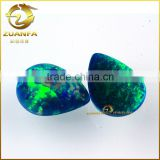 Customize-made Loose pear shape cabochon synthetic green opal stone