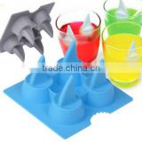2016 Silicone Brain Shape Ice Cube Freeze Mold Ice Cream Tools Ice Mould Hot Selling Shark 3D Shape Ice Tray Cool