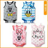 2015 summer new cartoon cotton vest clothing triangle Kazakhstan baby romper children's clothing wholesale trade