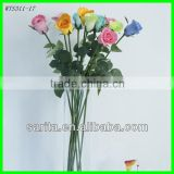 factory price artificial real touch flower rose with blue colors