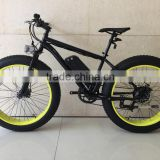 Factory selling new design 26 inch fat snow e-bike with large tire for beach cruiser use