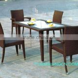 Cheap patio dining table with chair/hotel furniture swimming pool