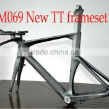 2014 newest fixed gear time trial bike frame,carbon triathlon bicycle frame,China carbon tt bike frameFM069